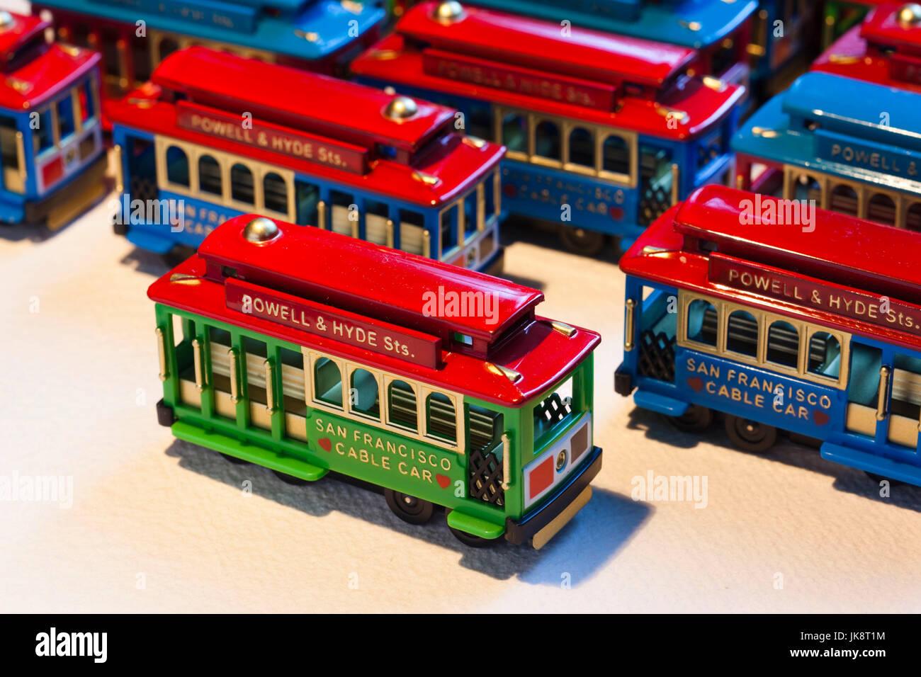 Miniatur San Francisco Seilbahn Spielzeug Stockfotos Miniatur San
