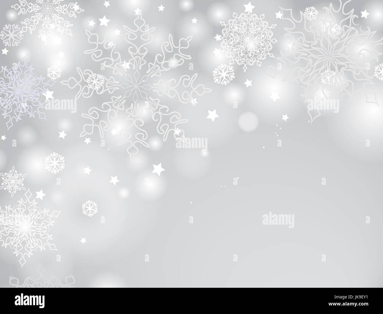 Weihnachten Hintergrund mit Schneeflocken, Weihnachtsbaum und ...