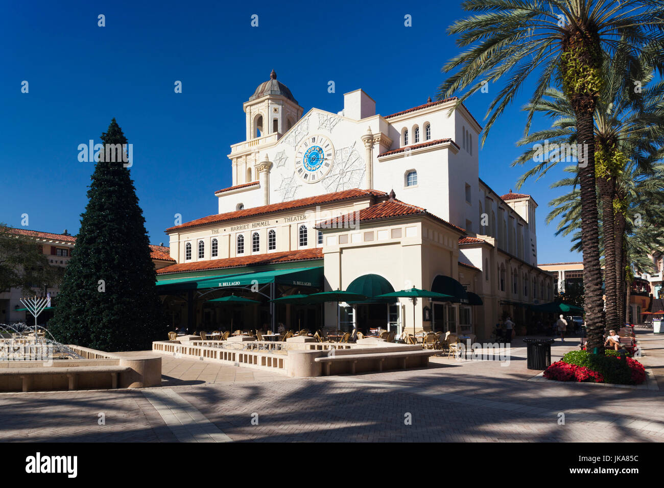 USA, Miami, West Palm Beach, City Place Mall, Harriet Himmel Theater Stockbild