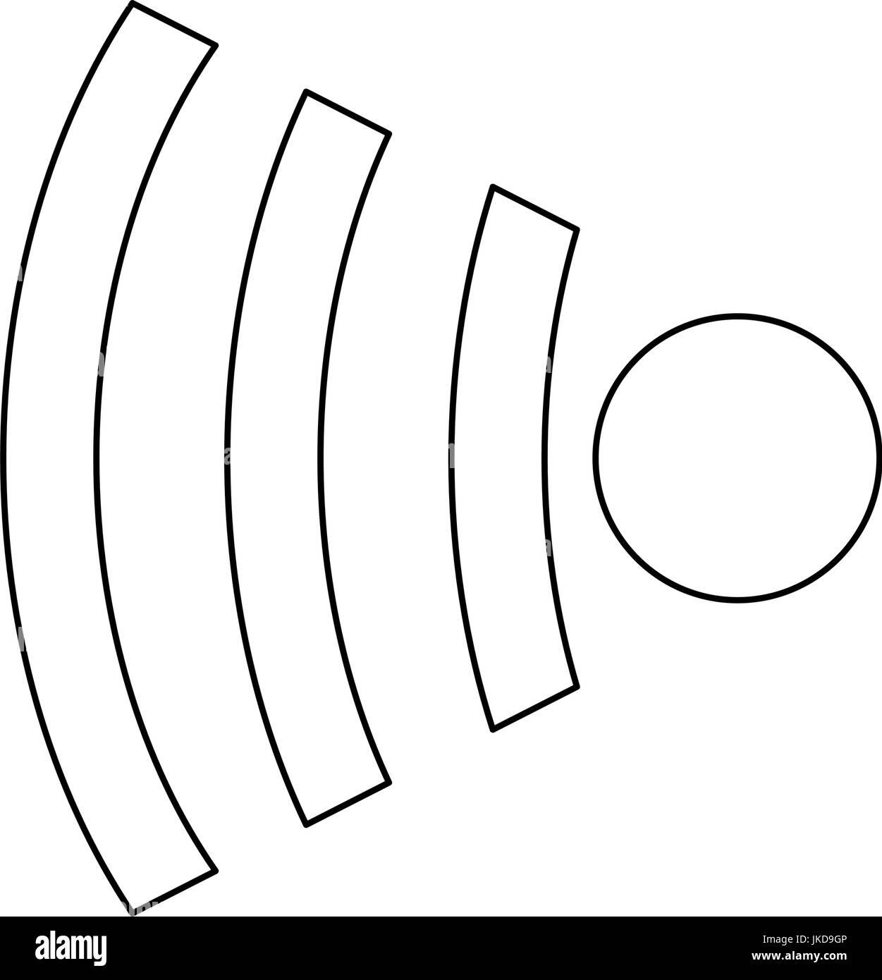 WiFi-Symbol drahtlose Internet Kommunikation Technologie Symbol ...