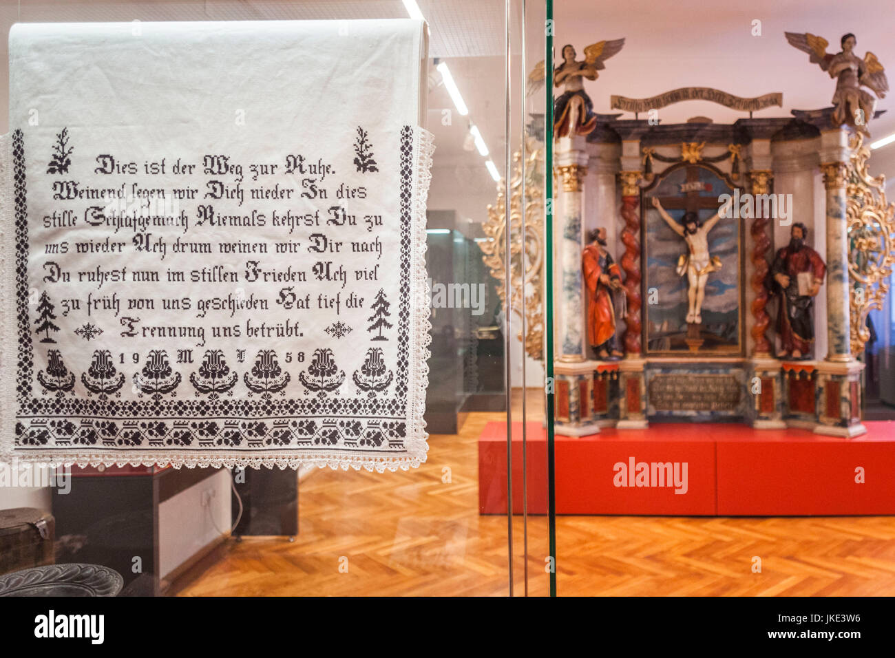 Rumänien, Transsilvanien, Sibiu, Casa Teutsch, Museum der Kirche von Aussiedlern in Rumänien, deutsche Stockbild