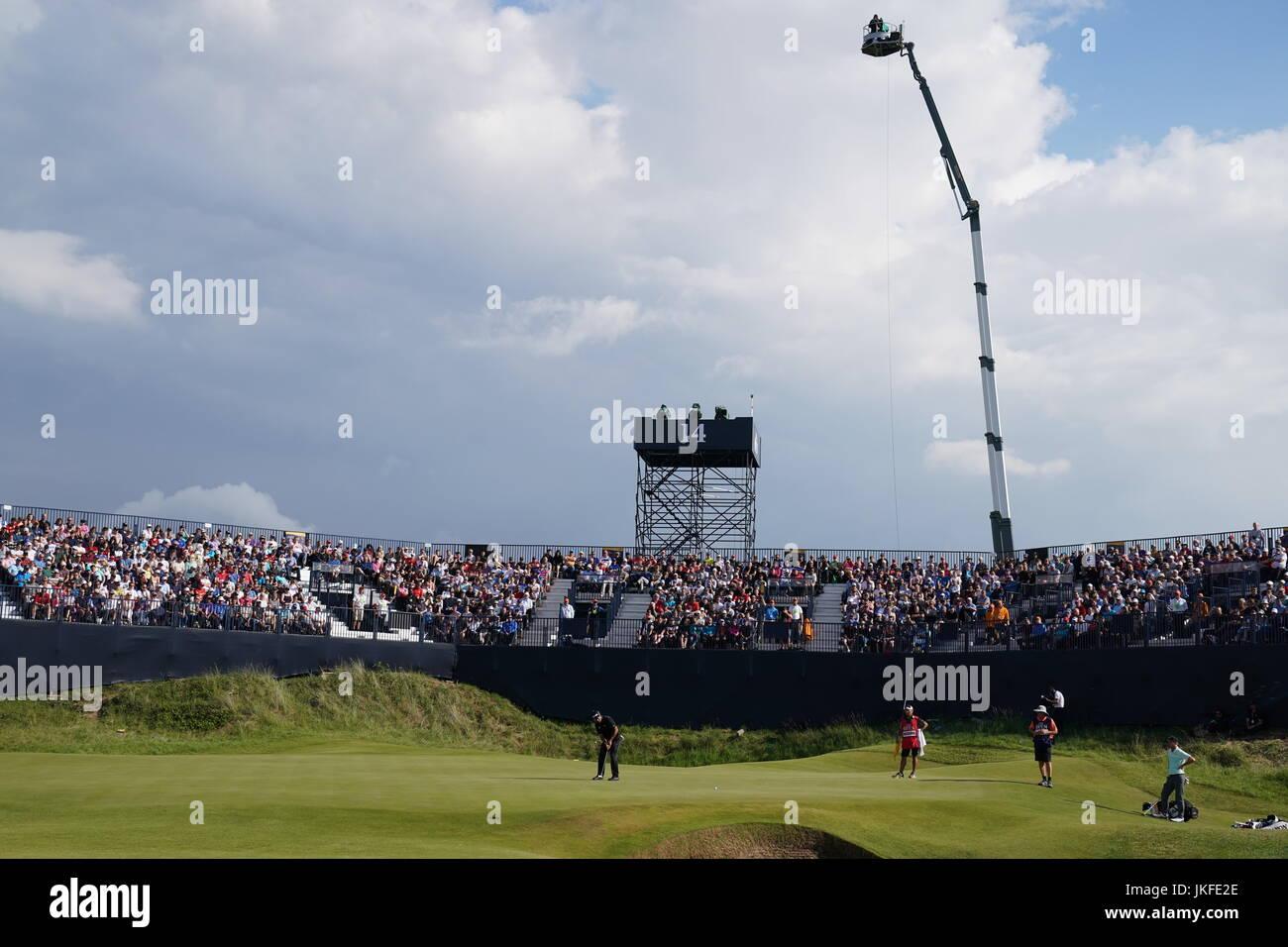 Southport, Merseyside, England. 22. Juli 2017. Hideki Matsuyama (JPN) Golf: Hideki Matsuyama in Japan am 14. Loch Stockfoto