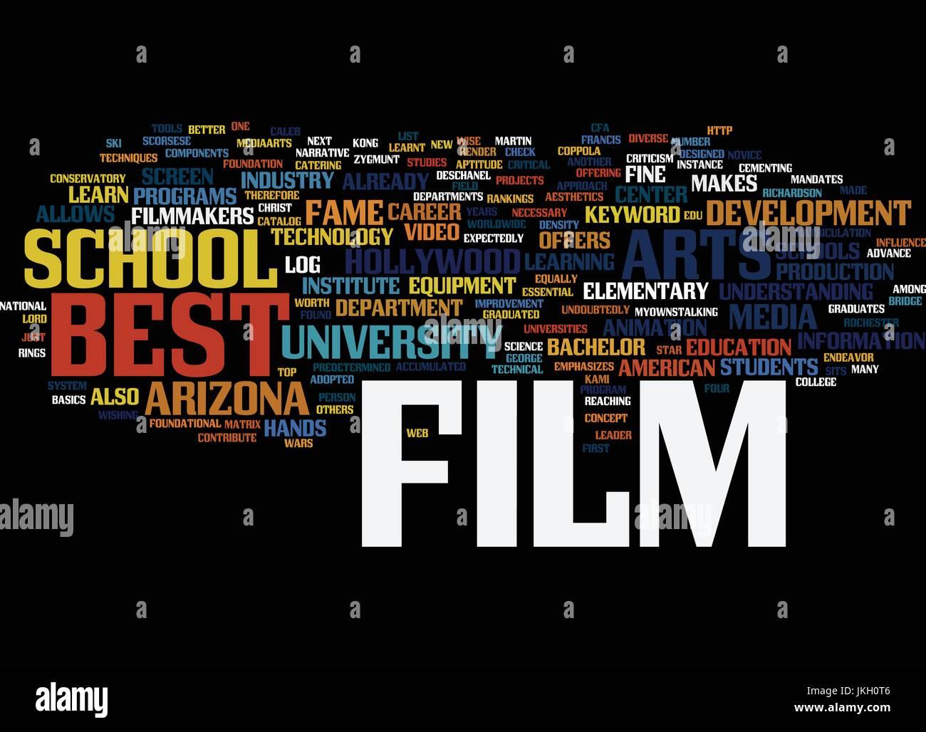 Best Film Schulen Textkonzept Hintergrund Word Cloud Vektor