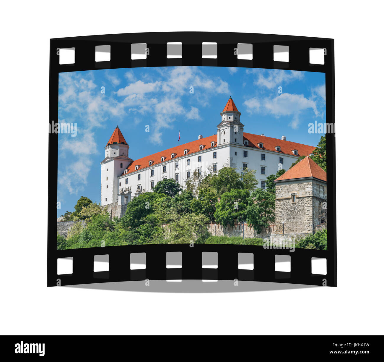 burg bratislava befindet sich in bratislava der hauptstadt der slowakei in europa sterben die. Black Bedroom Furniture Sets. Home Design Ideas