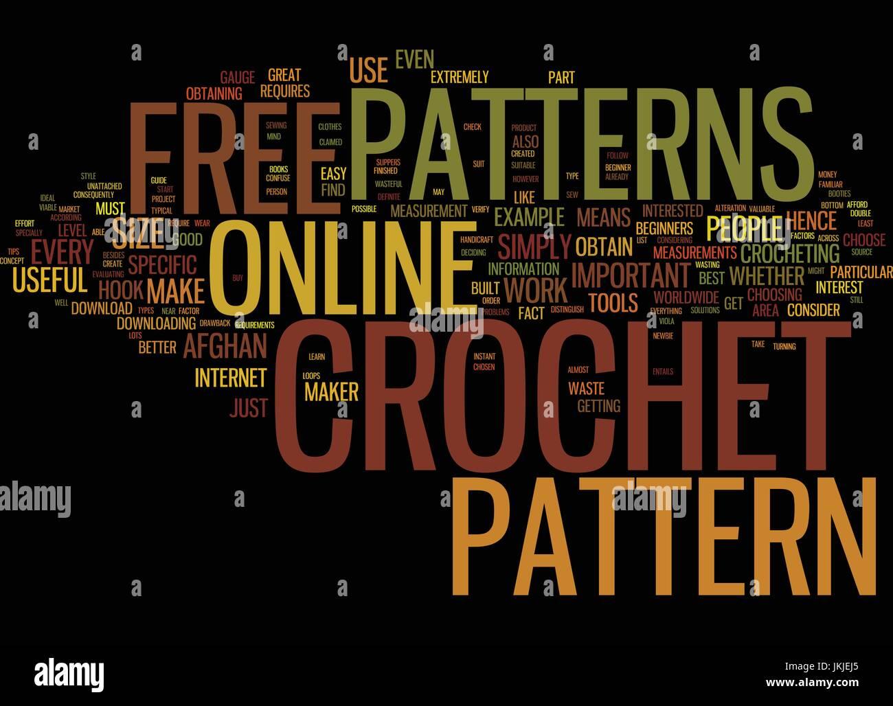 Crochet Patterns Text Background Word Stockfotos & Crochet Patterns ...