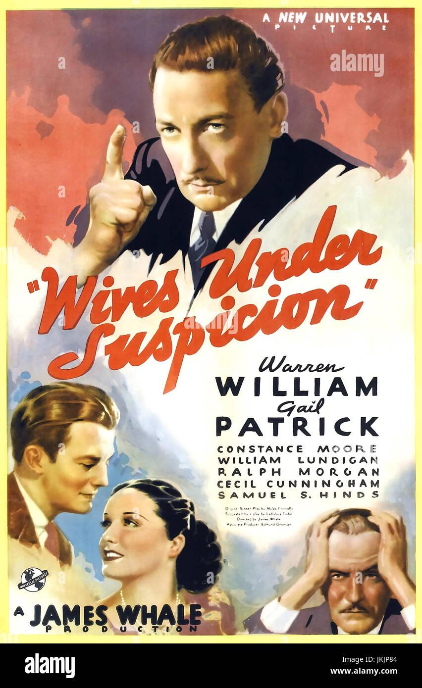 Frauen unter Verdacht 1938 Universal Pictures Film mit Gail Patrick Stockbild