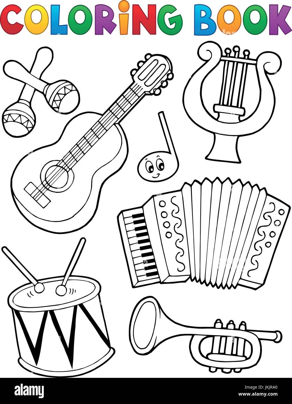 Wunderbar Malvorlagen Musikinstrumente Galerie - Malvorlagen Ideen ...