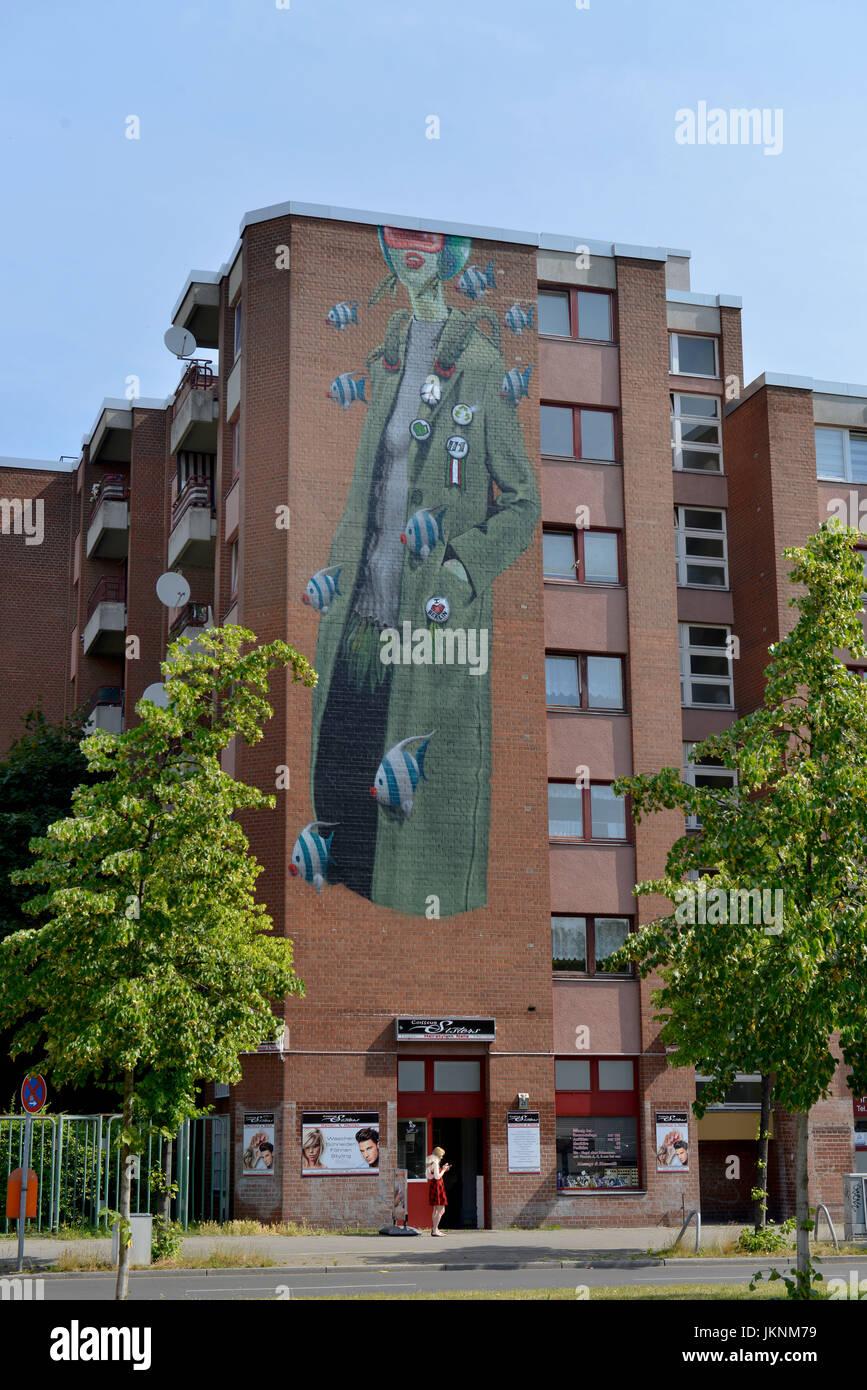 Gemalt stockfotos gemalt bilder alamy - Wandmalerei berlin ...