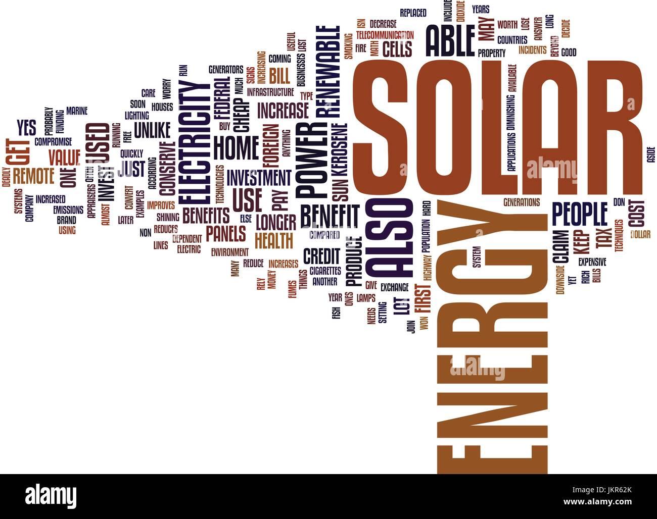 Vorteile Solarenergie die vorteile der solarenergie textkonzept hintergrund word cloud