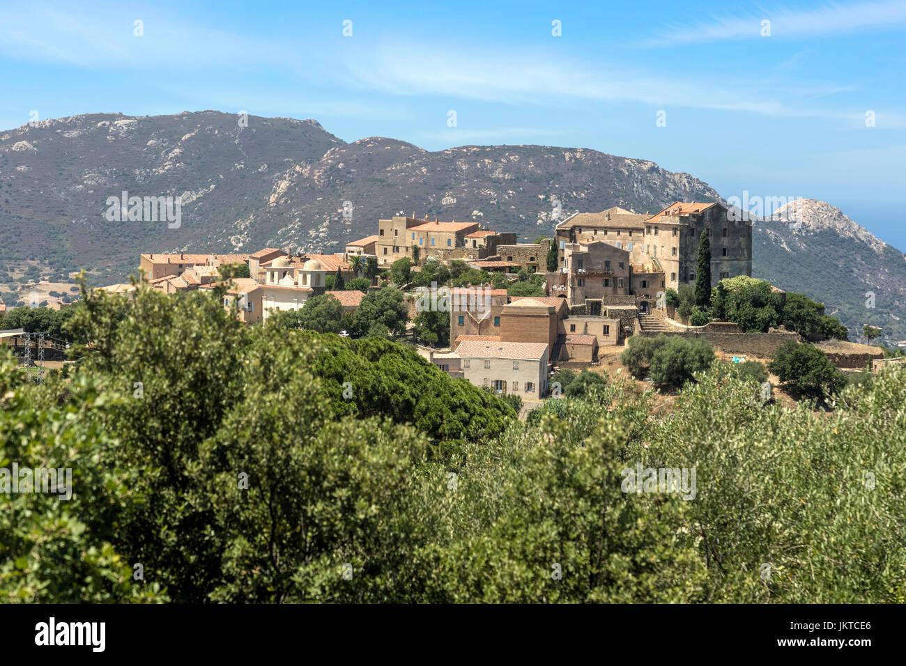 Pigna, Korsika, Frankreich Stockbild