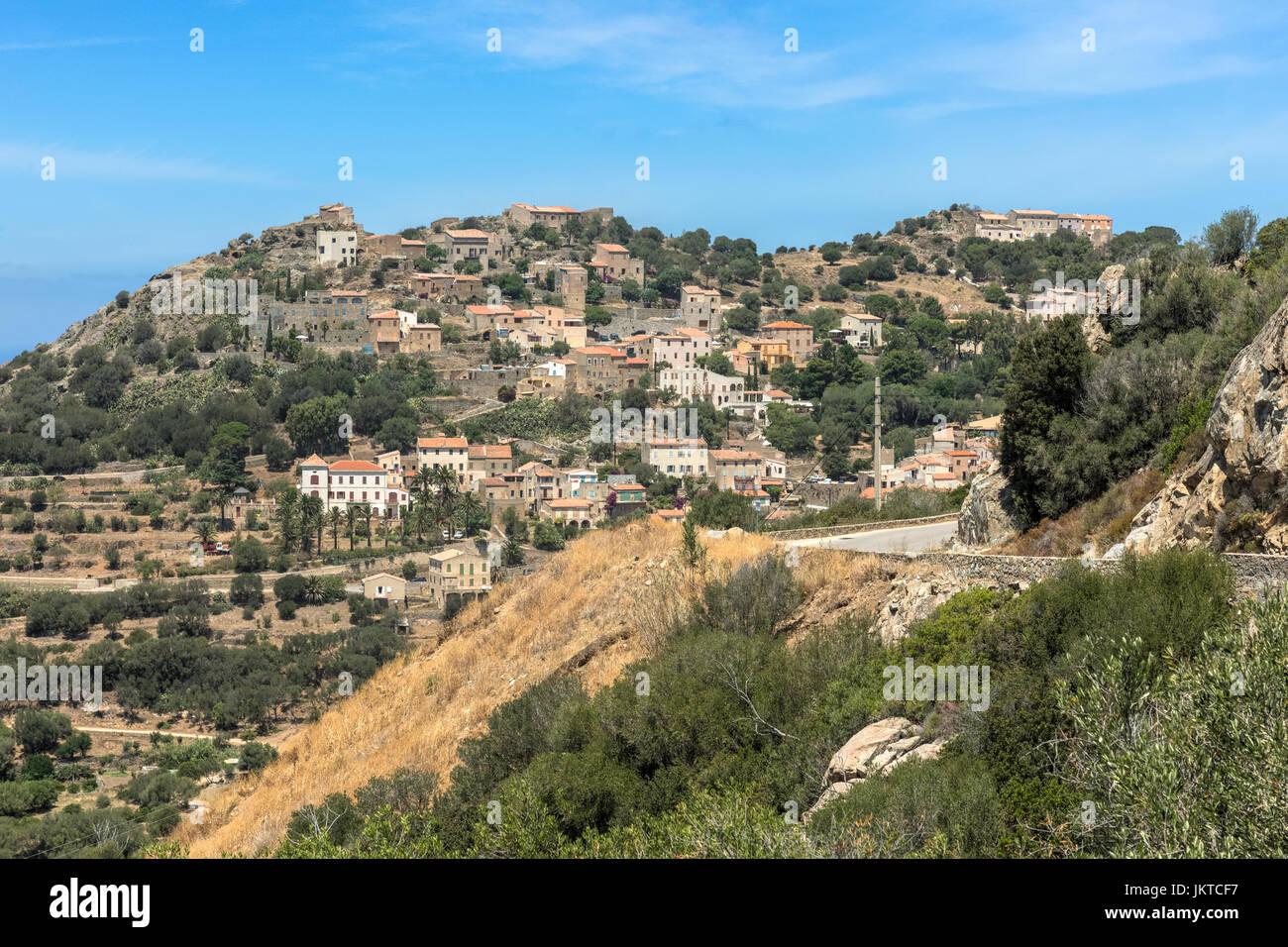 Corbara, Korsika, Frankreich Stockbild