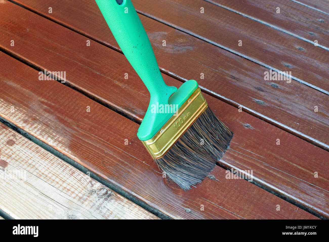 Holzterrasse Boards Mit Holzol Und Ohne Gegen Feuchtigkeit Und