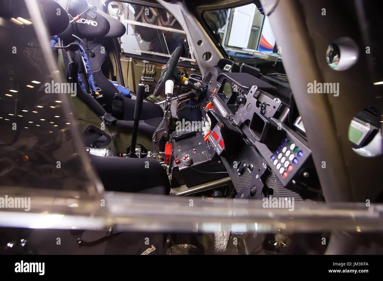 Armaturenbrett des 4wd Offroad extreme Rallyefahrzeug Stockbild