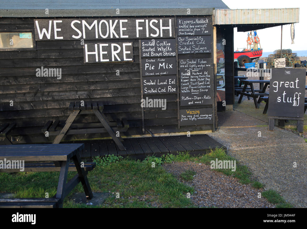 smoked fish shed stockfotos smoked fish shed bilder alamy. Black Bedroom Furniture Sets. Home Design Ideas
