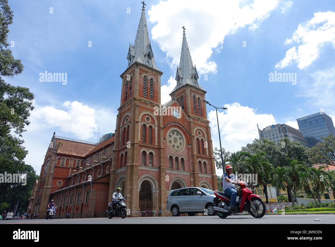 Kathedrale Notre Dame Vietnamesisch Nha Tho Duc Ba In Einem