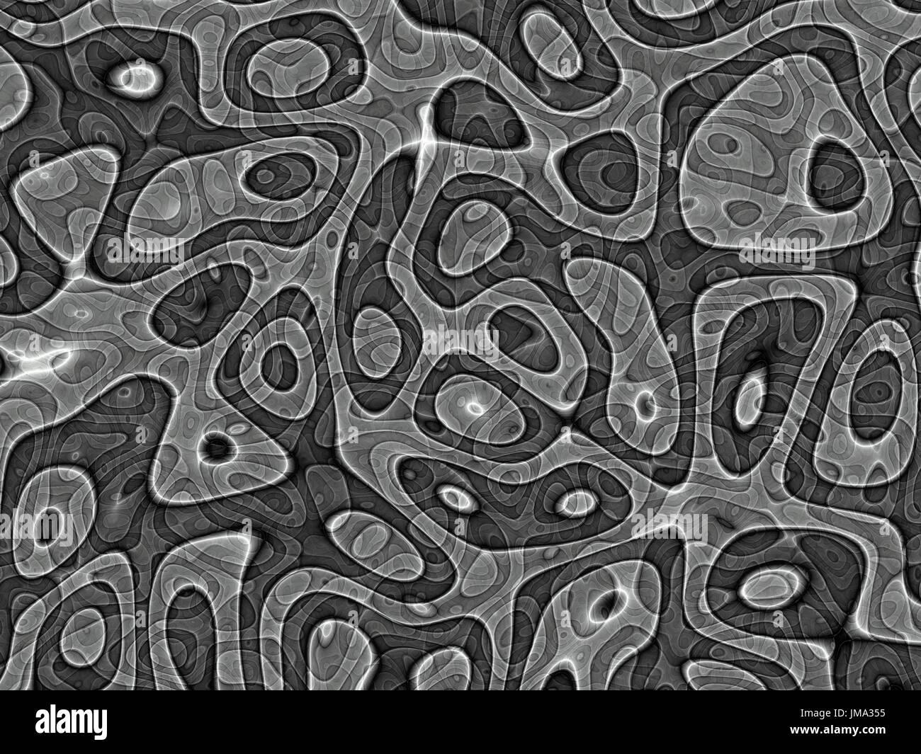 Graustufen-Blob-Struktur Stockbild