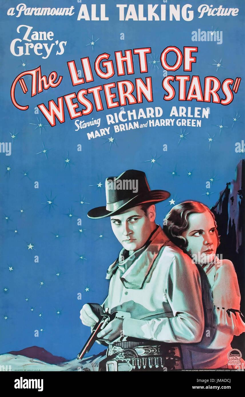 DAS Licht des westlichen STARS 1930 Paramount Pictures-Film mit Mary Brian und Richard Arlen Stockfoto