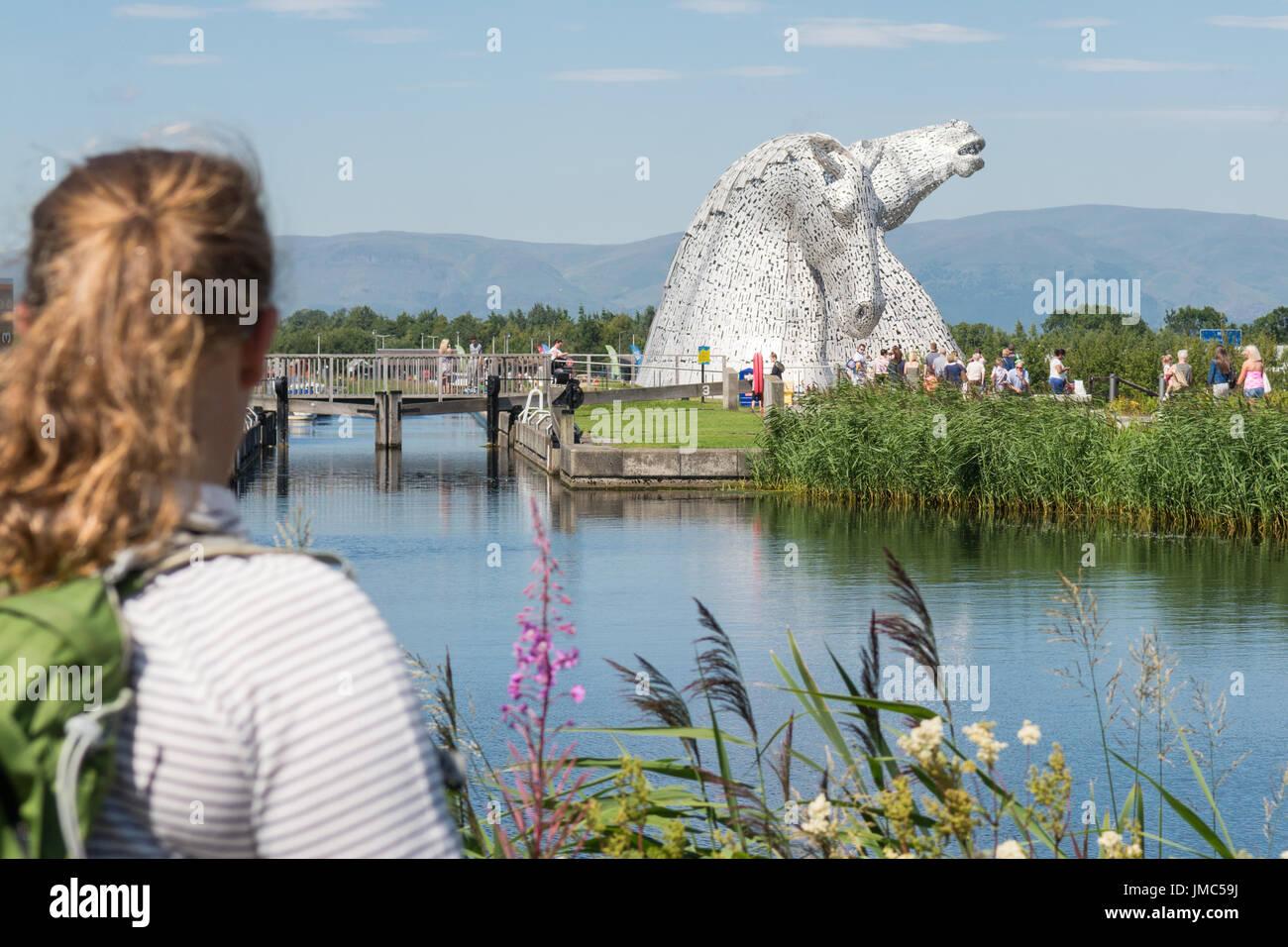 Die Kelpies, Helix, Falkirk, Schottland Stockbild