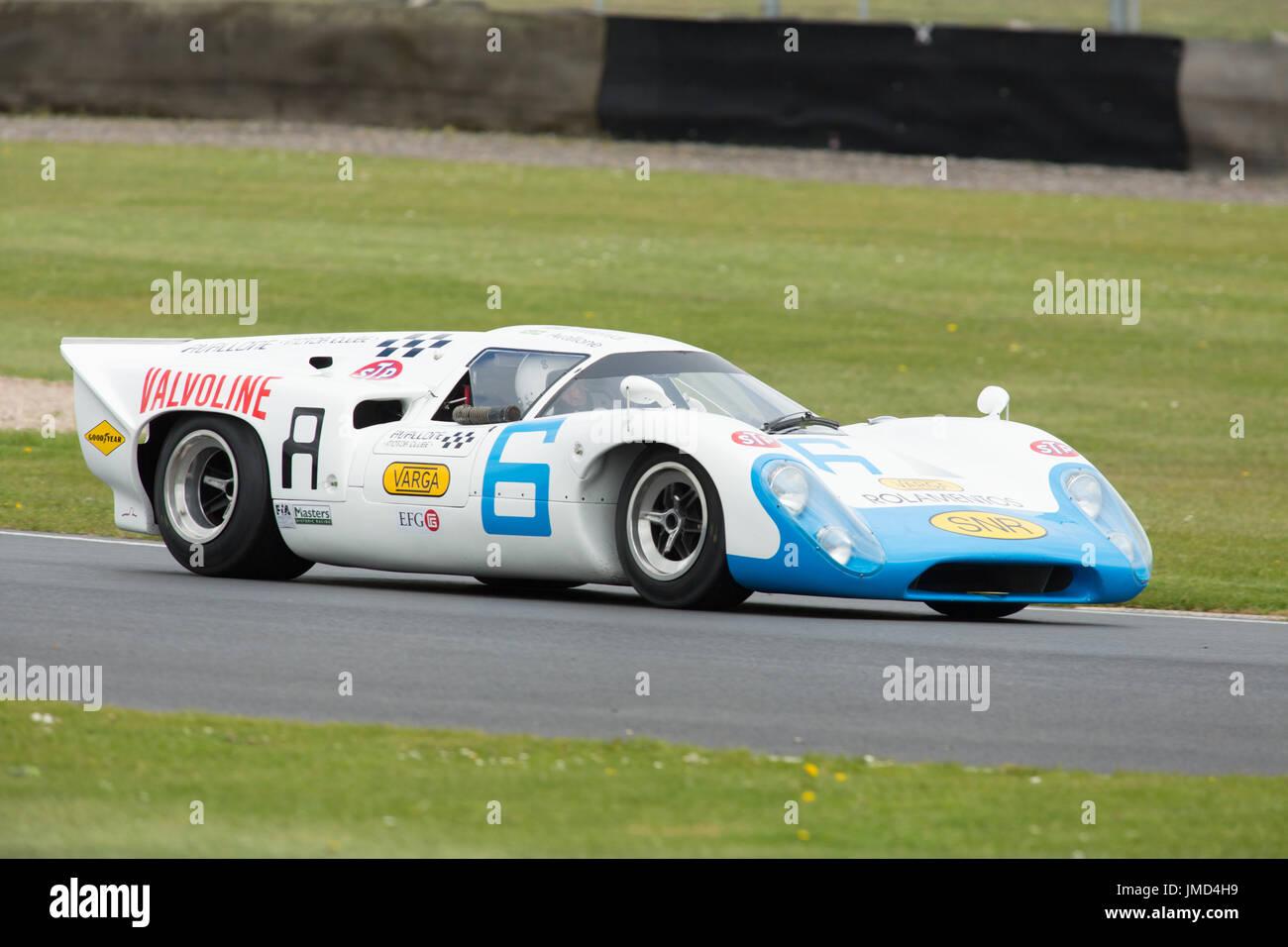Die Donington historische Festival 2017 für den Motorsport Stockbild