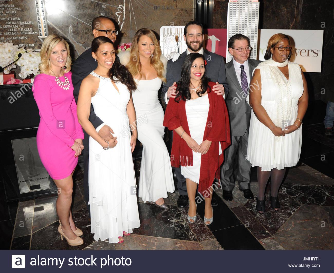 Mariah Carey mit 3 Gewinner Valentinstag Hochzeit Paare. Mariah ...