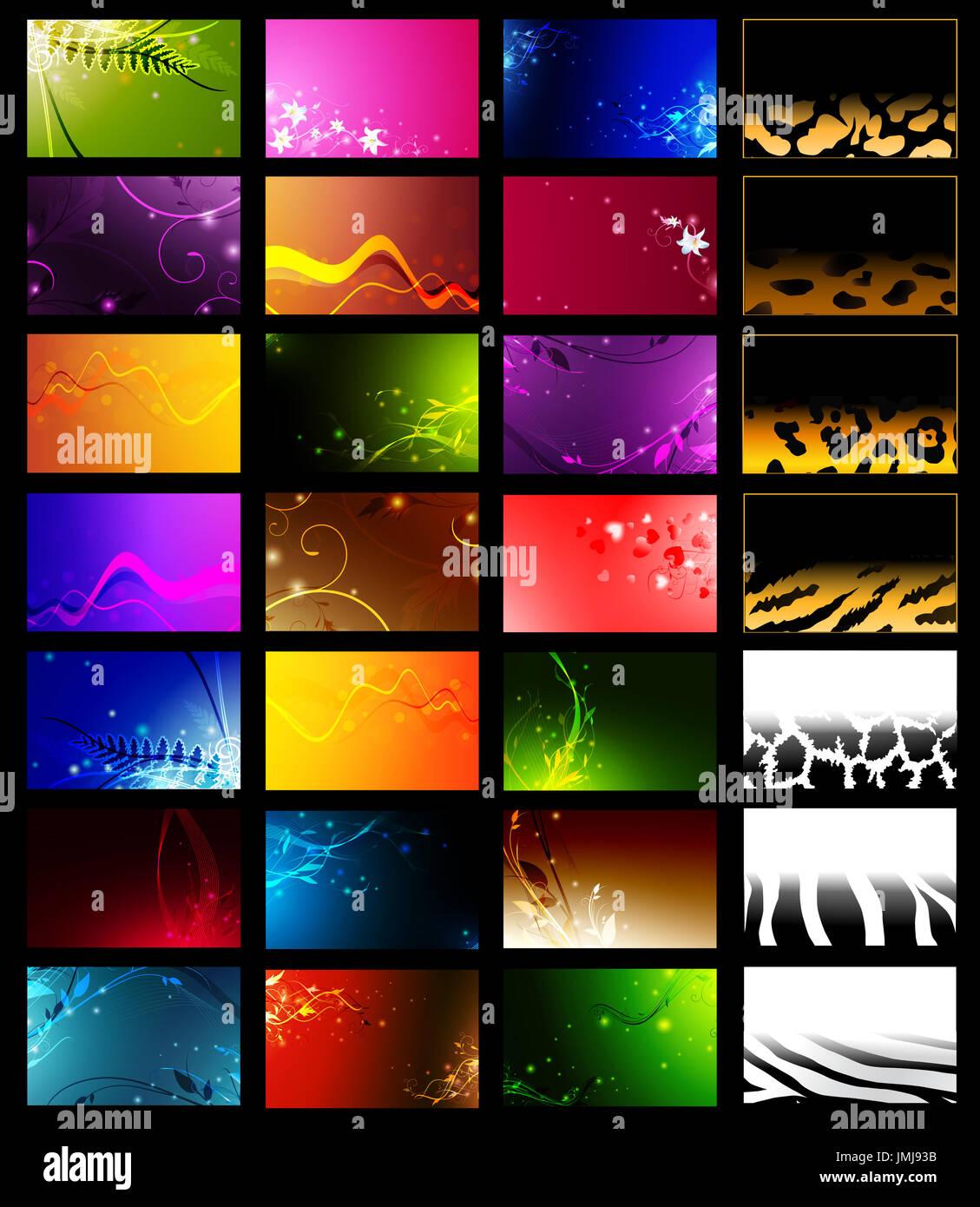 28 Horizontale Visitenkarten Vorlagen Stockfoto Bild