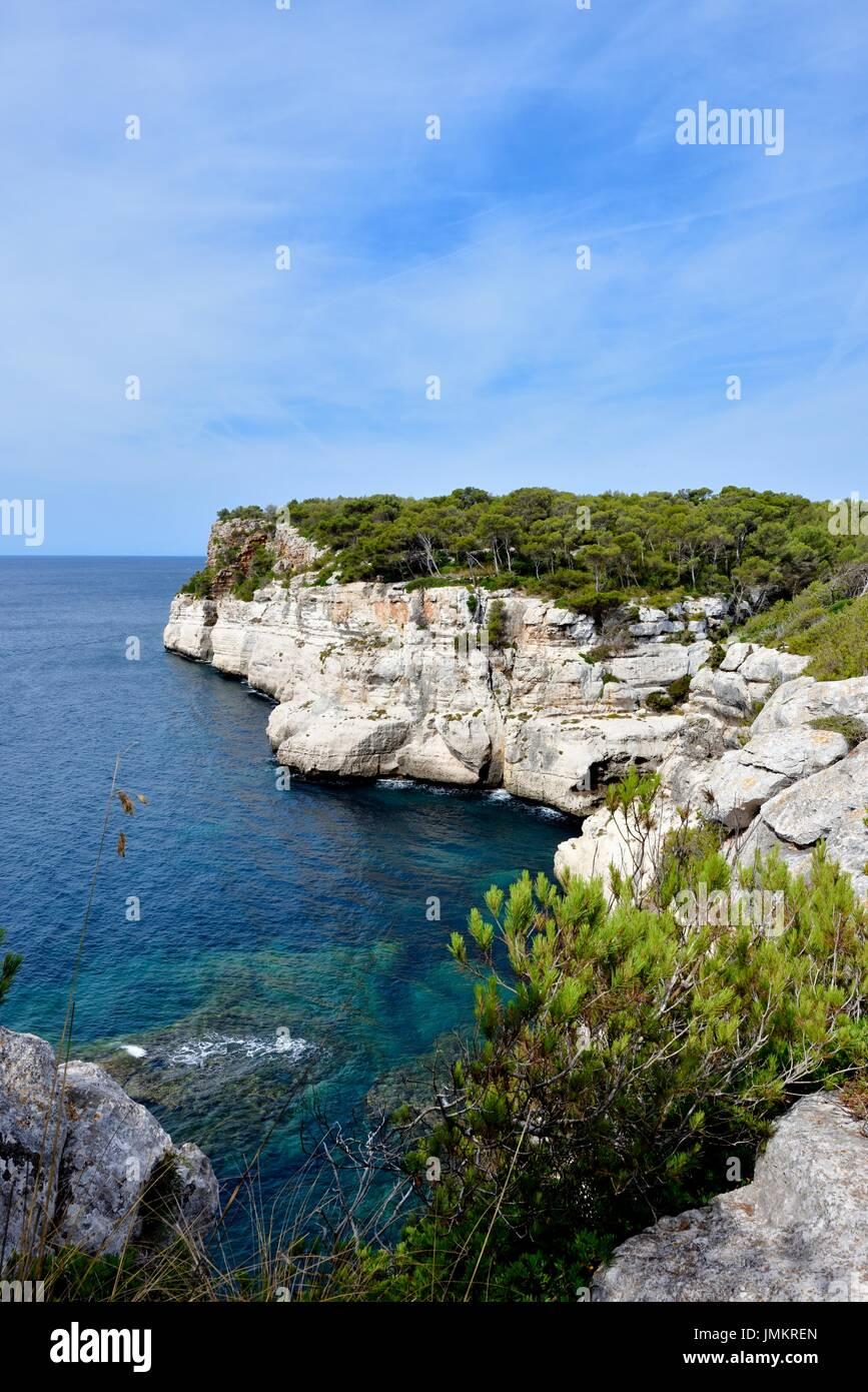 Cami de Cavalls Cala Galdana Menorca Menorca Spanien Stockbild