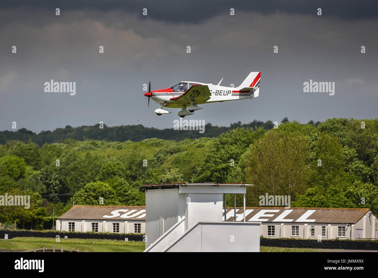 Landung in Goodwood Stockbild