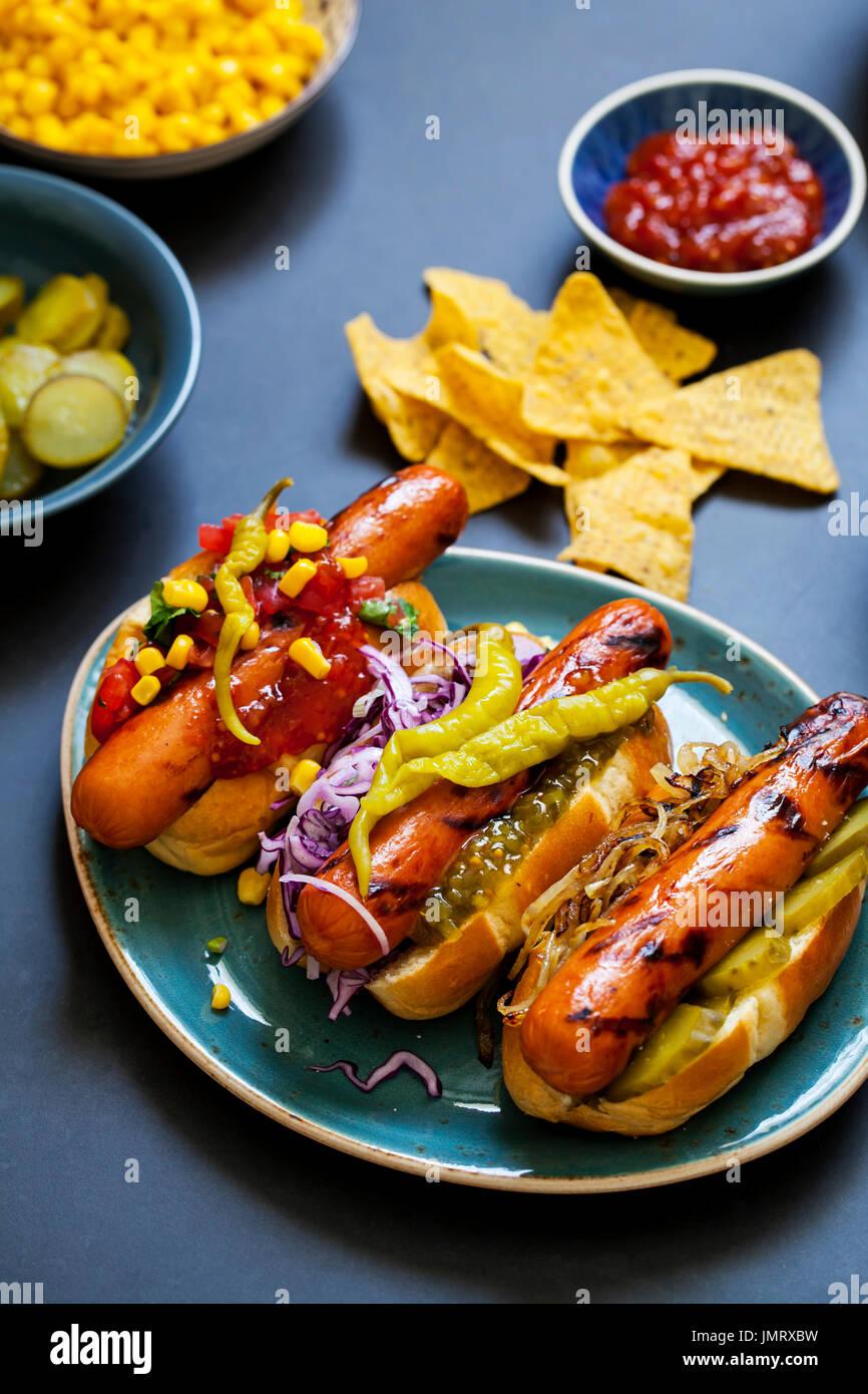 Gourmet ho Hund Stockbild