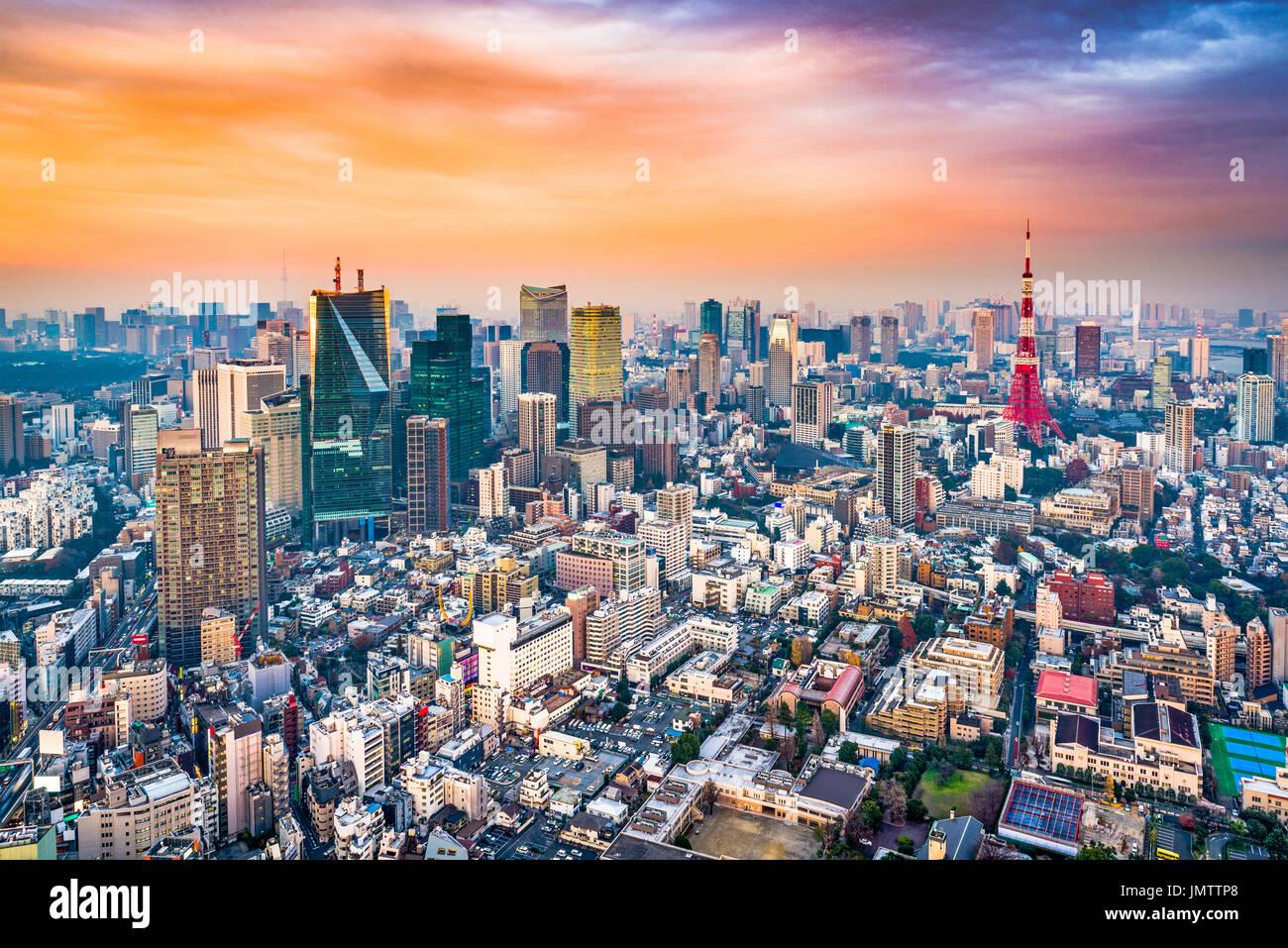 Skyline von Tokyo, Japan. Stockbild