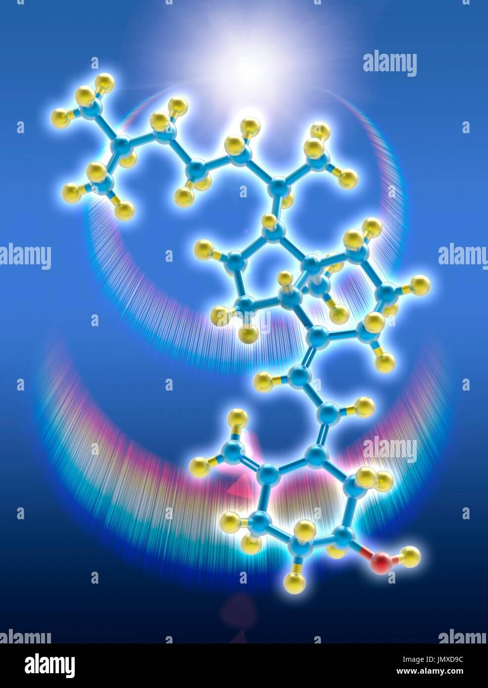 Kohlenstoffdatiergeschwindigkeit des Lichts