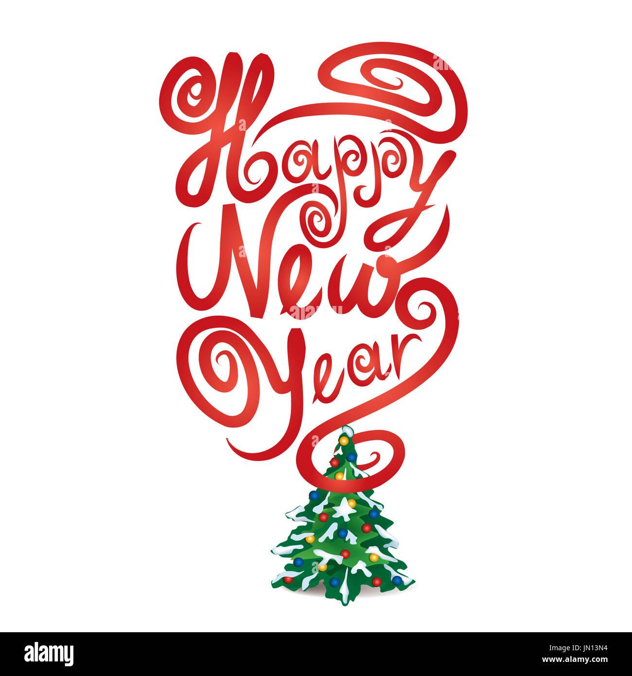Frohe Weihnachten und Happy New Year-Symbol. Weihnachten Zeichen ...