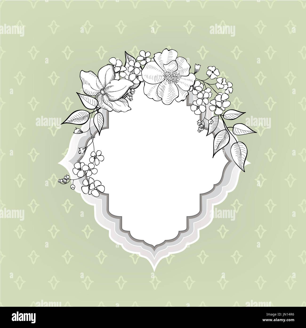 Blume Rahmen. Blumen vintage Hintergrund im viktorianischen Stil ...