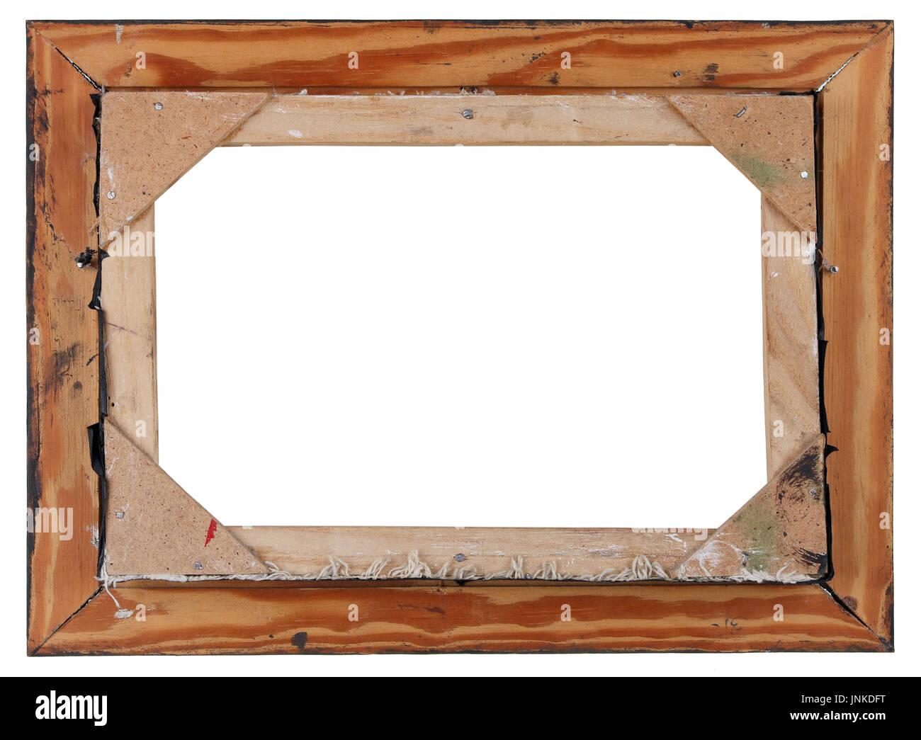 Rückseite des alten Retro-Holz Öl auf Leinwand gemalten Bilder ...