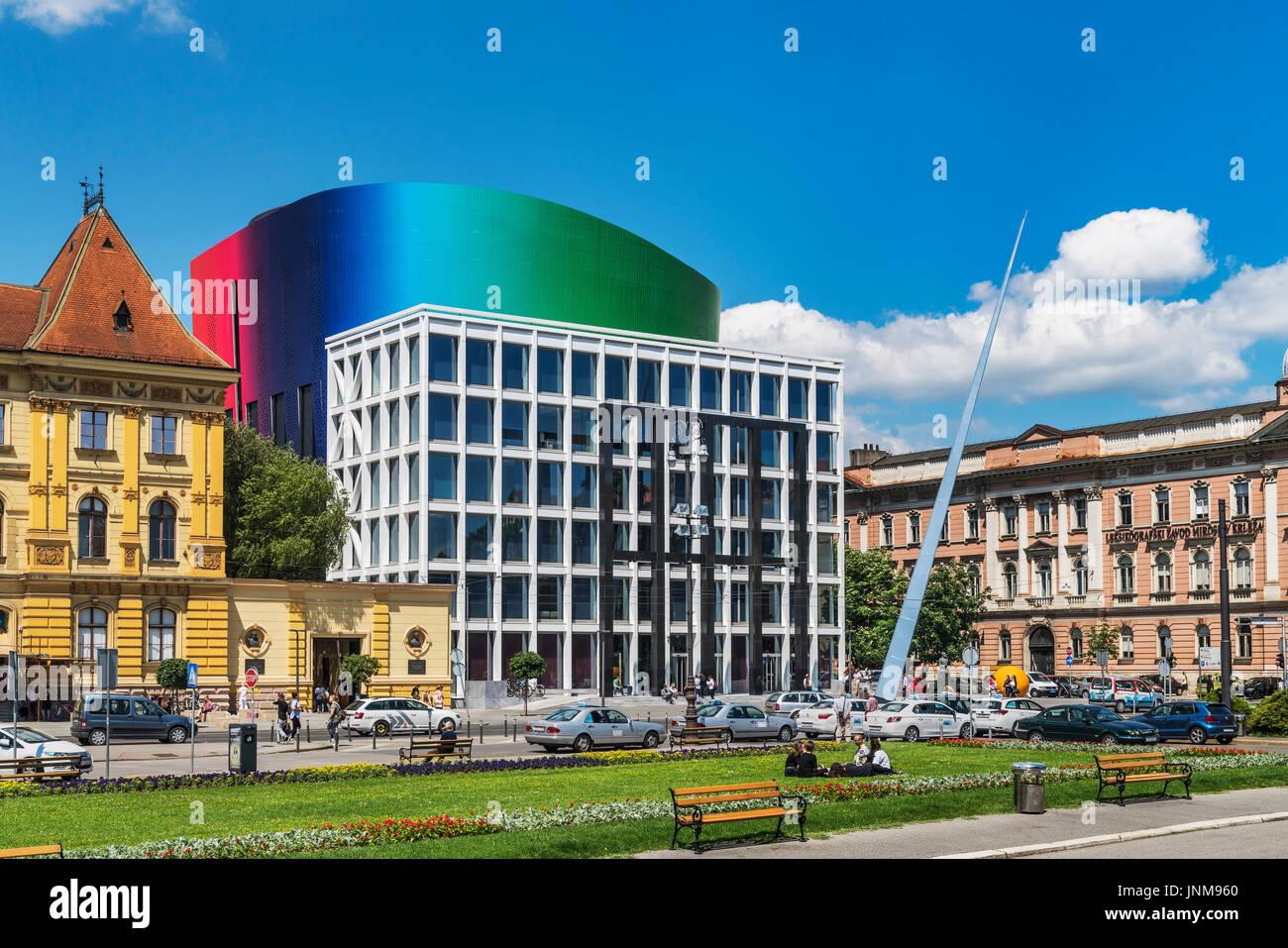 Das neue Gebäude der Musik Akademie Zagreb erfolgte im September 2014, Zagreb, Kroatien, Europa Stockfoto