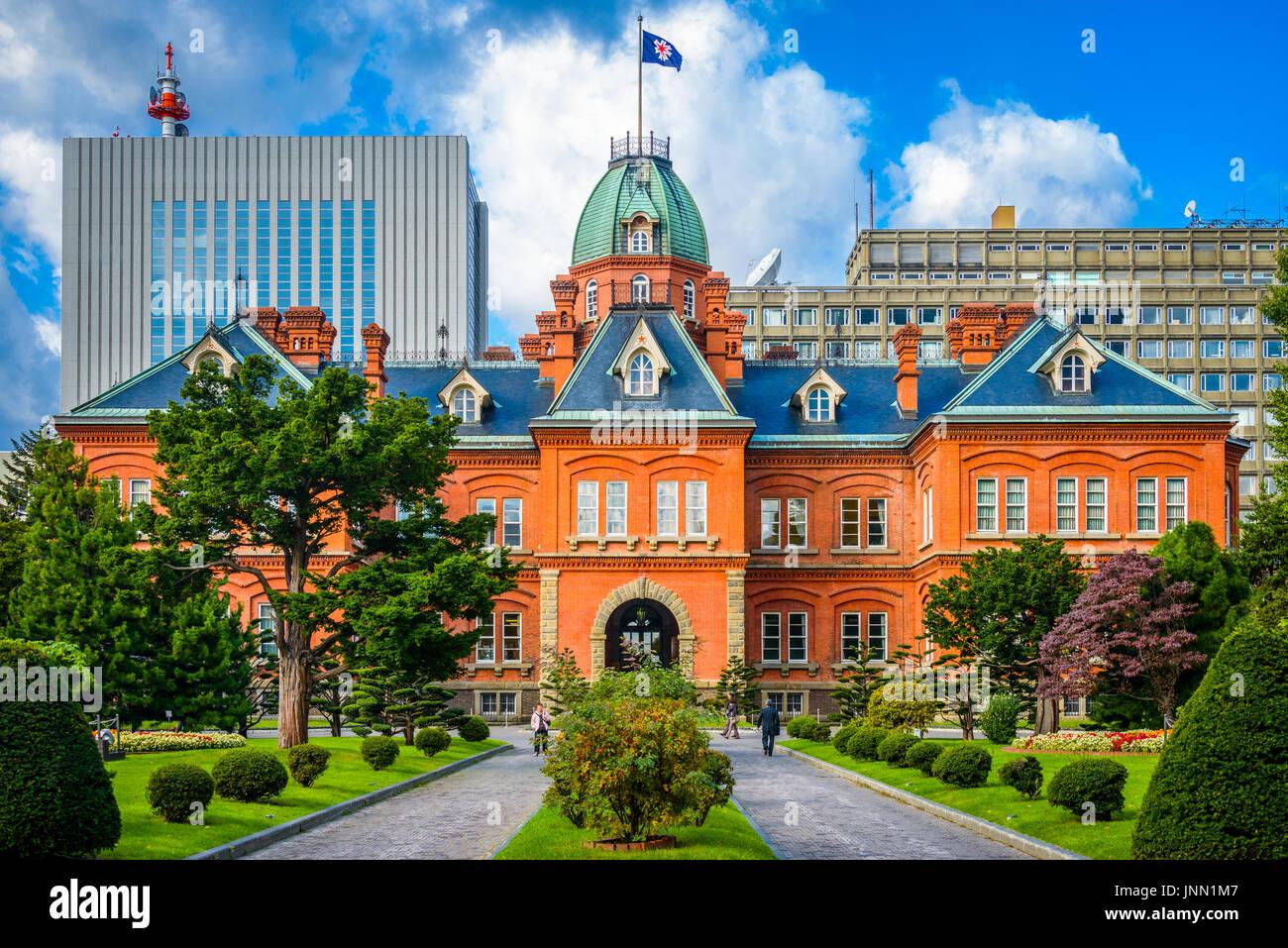 Sapporo, Japan in den historischen ehemaligen Hokkaido Regierungsbüros. Stockbild
