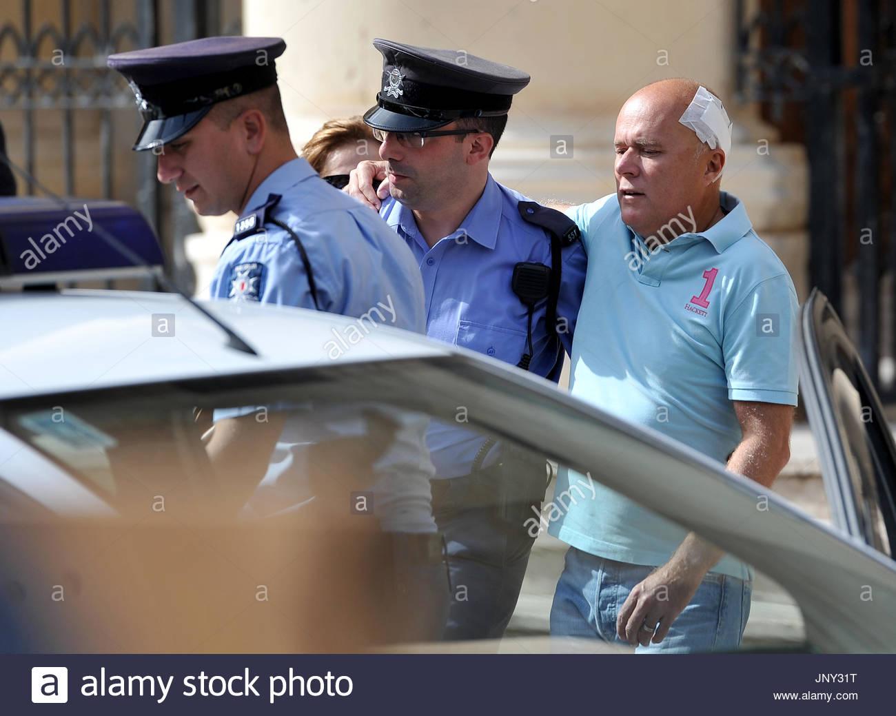 Paul Bailey Millionär, verlor die Kontrolle über seinen Porsche Super und rund 26 Personen verletzt, wurde Stockbild