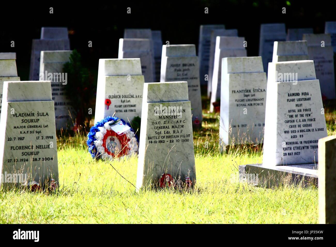 Brookwood Cemetery und Soldatenfriedhof, auch bekannt als London Nekropole, in Surrey. Der größte Friedhof im Vereinigten Königreich gegründet 1852. Stockbild