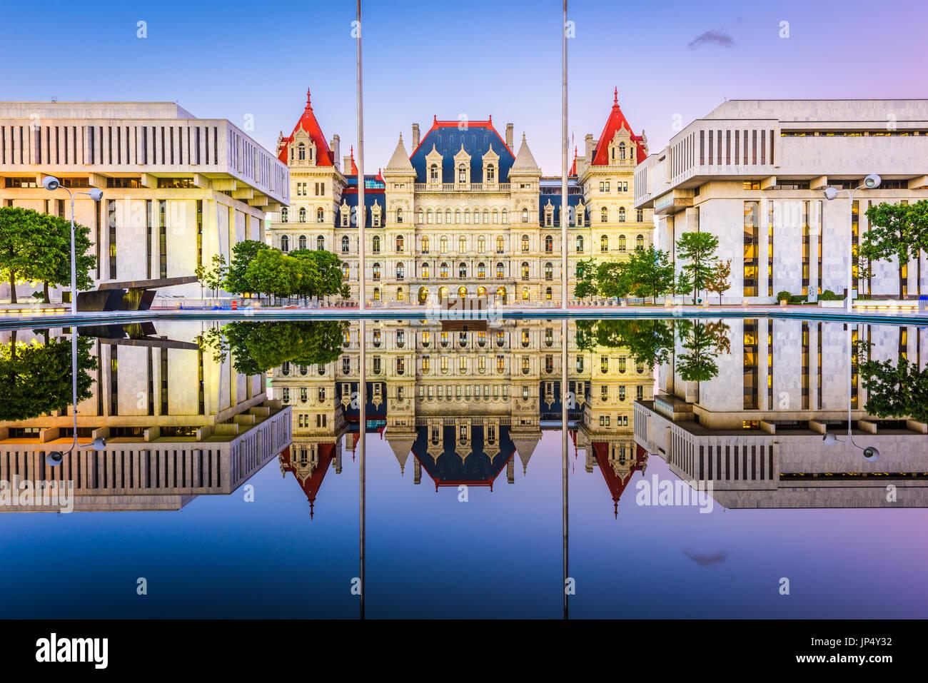 Albany, New York, USA an der New York State Capitol. Stockbild