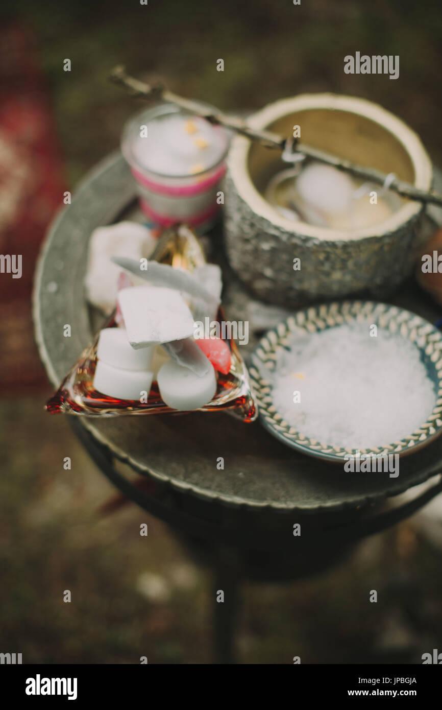 Alternative Hochzeit, Zeremonie, Ritual, Zubehör Stockbild