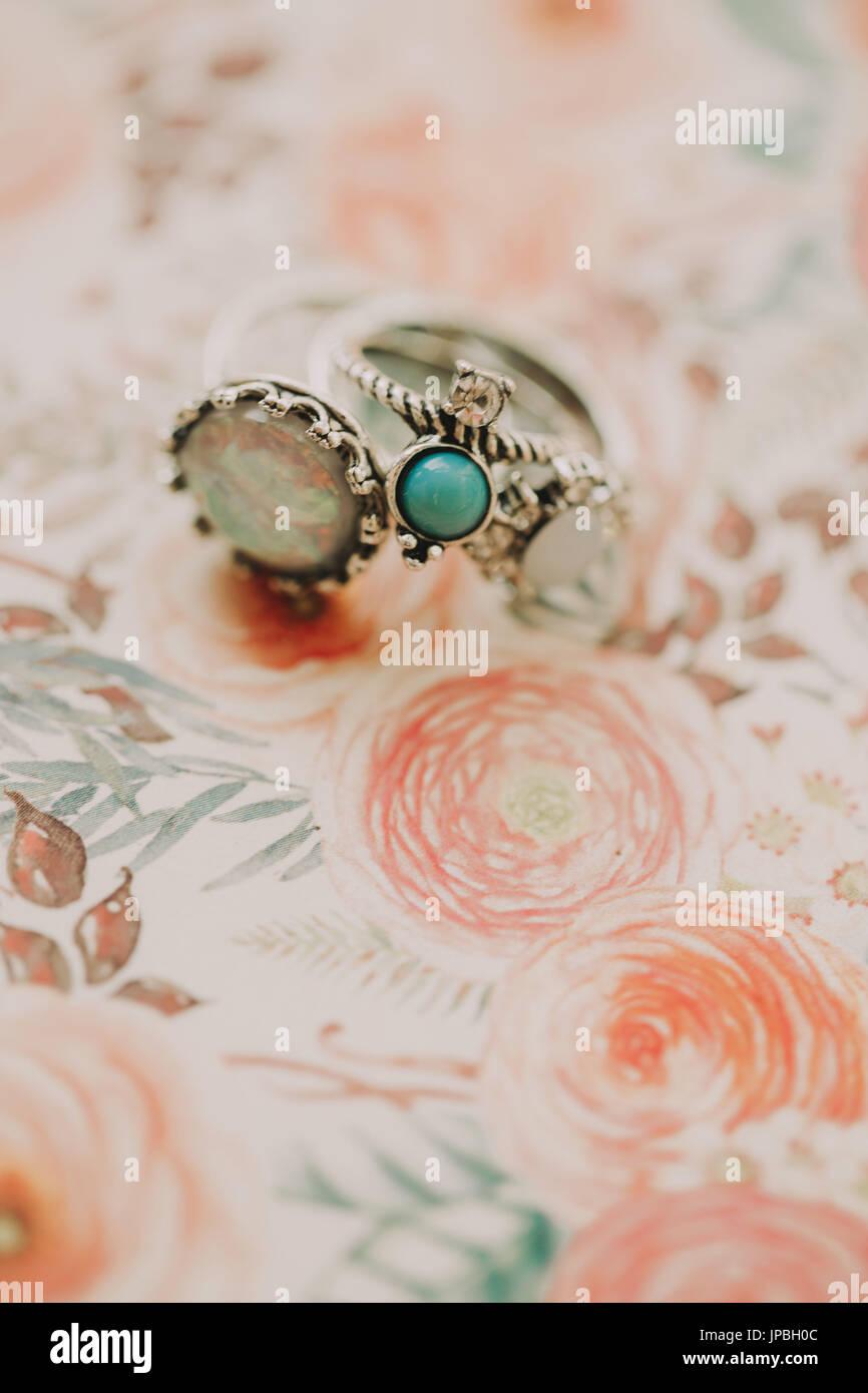 Alternative Hochzeit, ring Stockbild