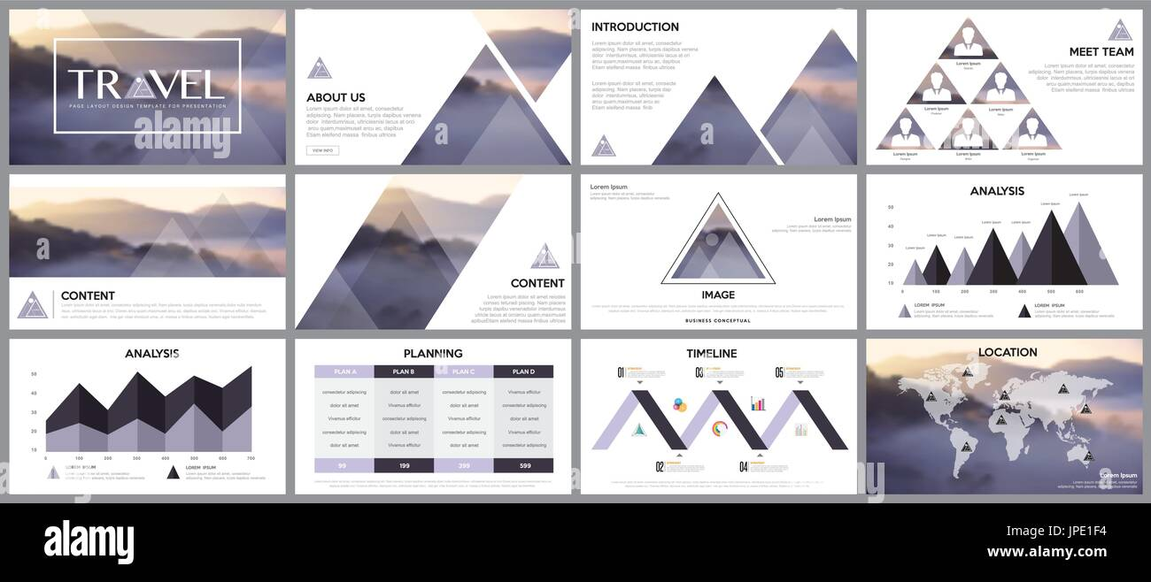 Gestaltungselement der Infografiken für Präsentationsvorlagen. In ...