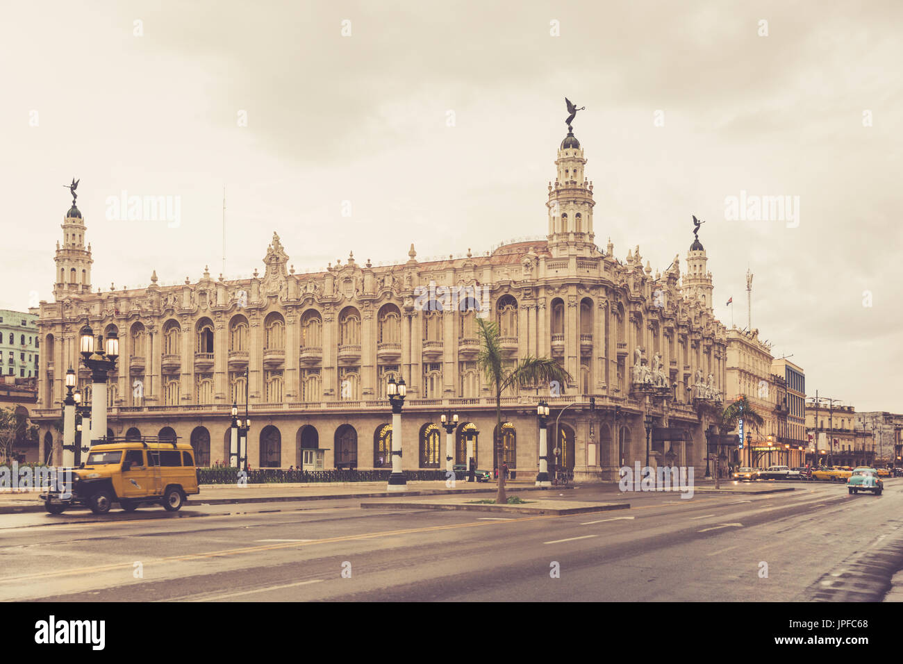Das Gran Teatro De La Habana 'Alicia Alonso', The Grand Theater von Havana, La Habana Vieja, Alt-Havanna, Kuba Stockfoto