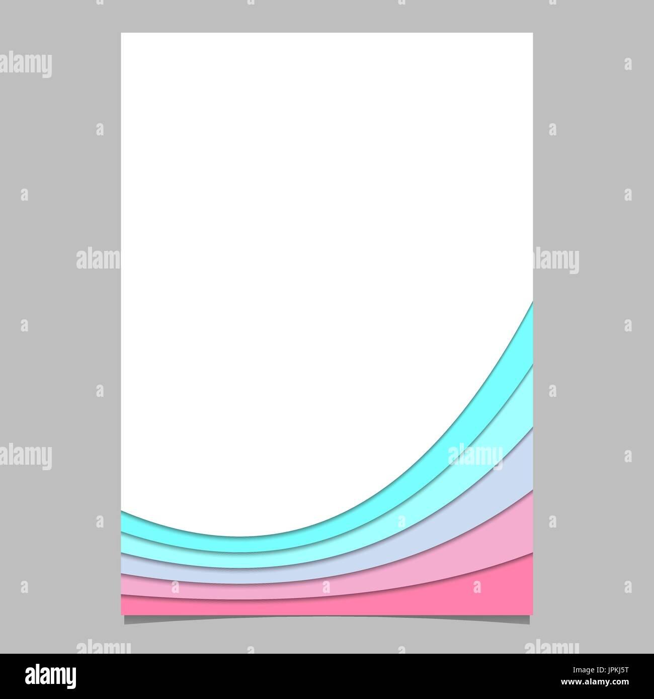 Leere Broschüre Vorlage aus bunten gebogenen Streifen - Vektor-Seite ...