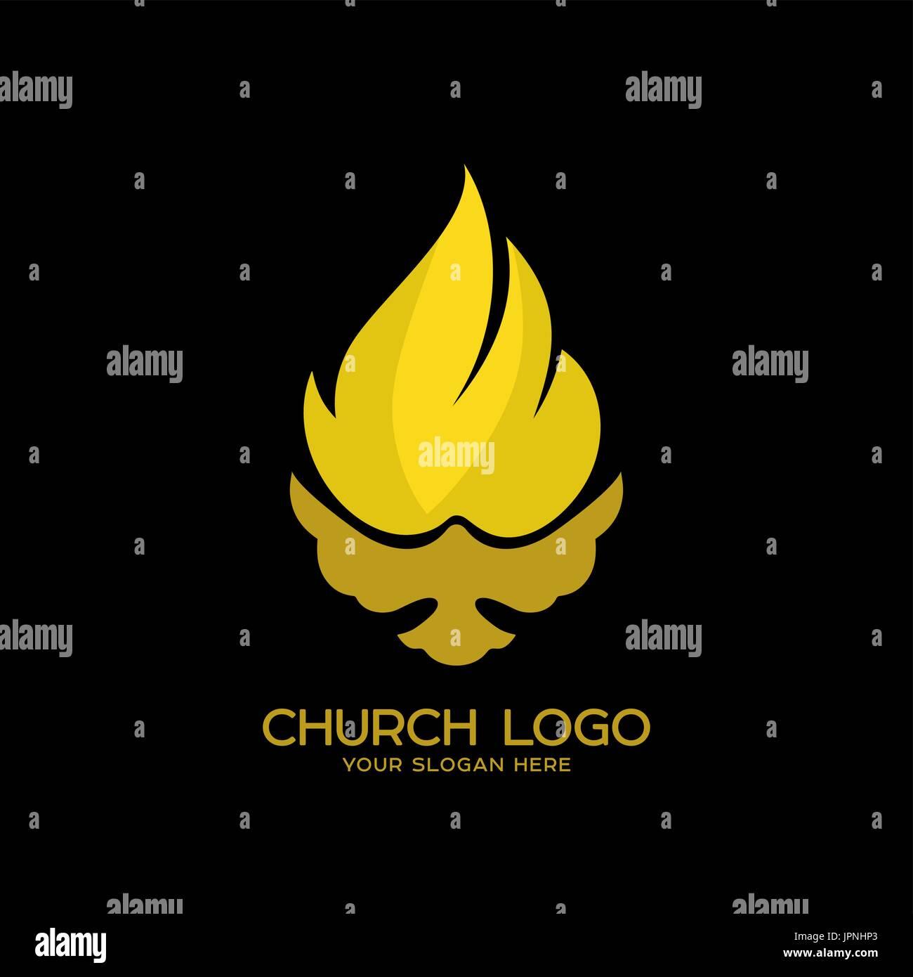 Logo der kirche christliche symbole die taube und die flamme des logo der kirche christliche symbole die taube und die flamme des heiligen geistes das reich gottes buycottarizona