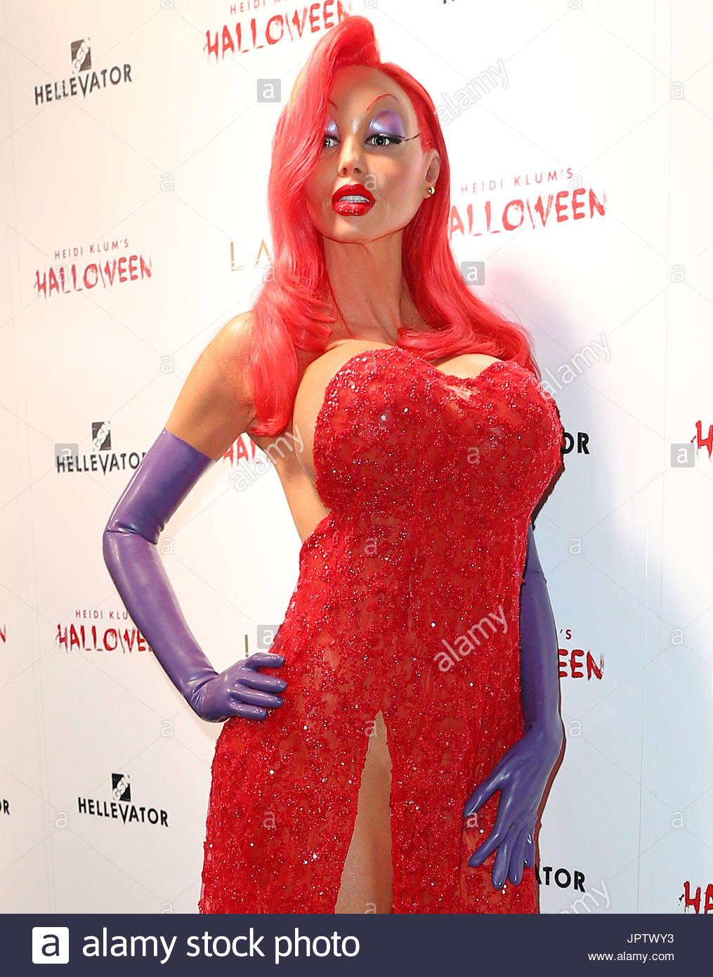 Heidi Klum. Heidi Klum verkleidet als Jessica Rabbit auf ihre ...