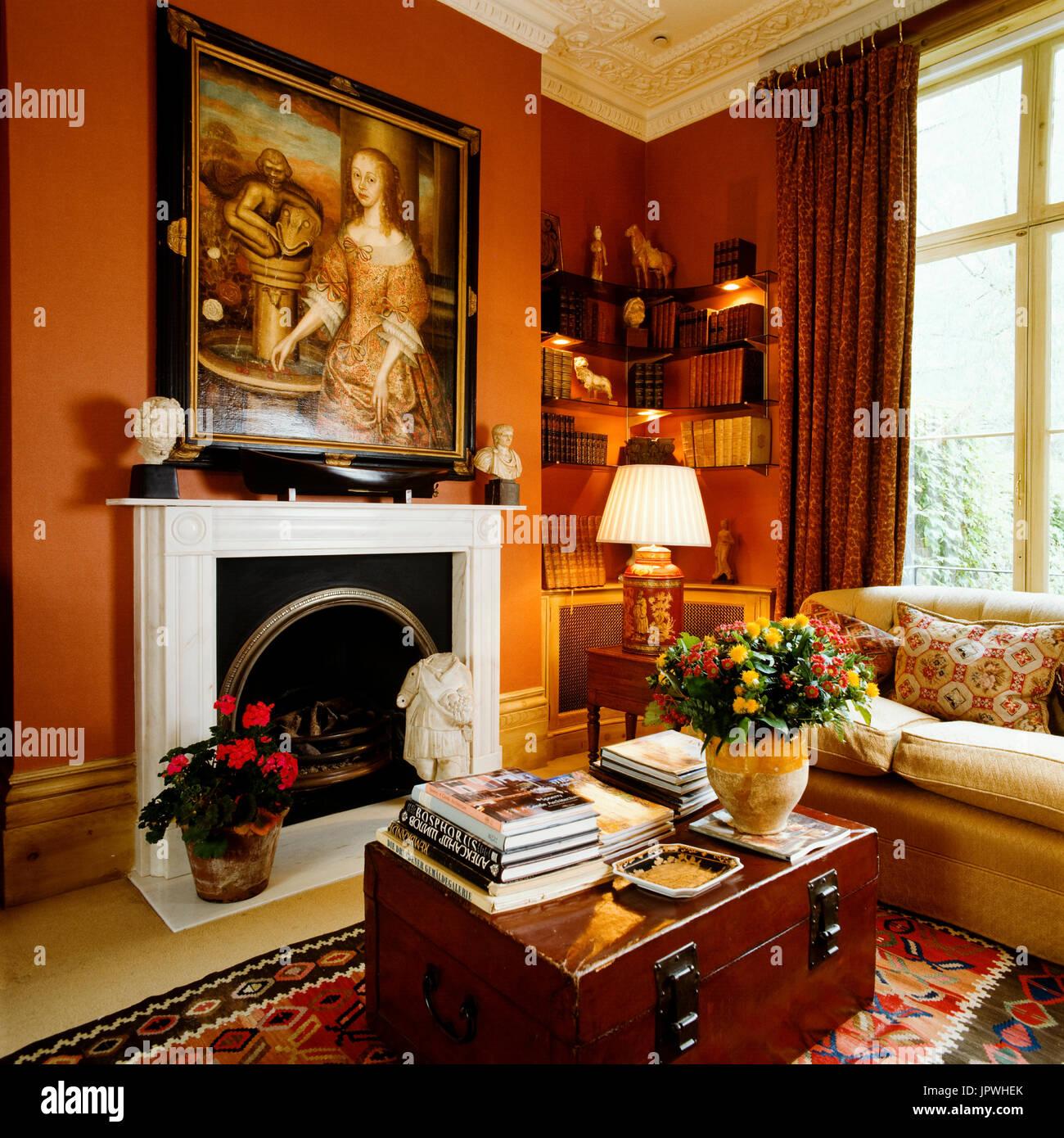 Wohnzimmer Im Viktorianischen Stil Hohen Leuchter Home Stilvollen ...