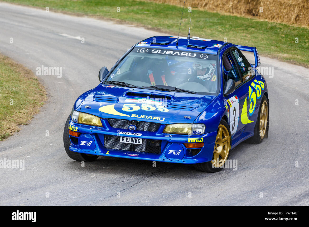 ex colin mcrae 1997 subaru impreza wrc rallye auto mit fahrer steve rockingham auf die 2017. Black Bedroom Furniture Sets. Home Design Ideas