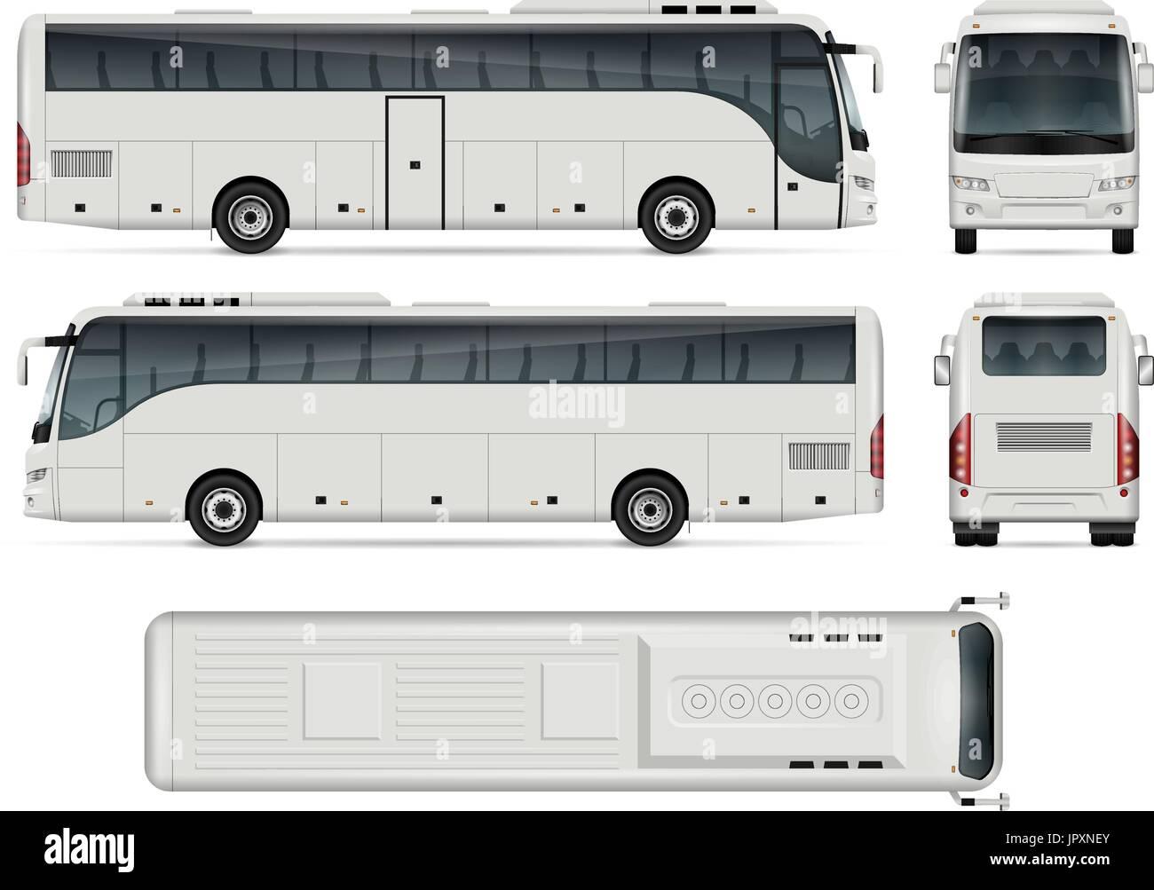 Bus-Vektor-Vorlage für Auto, branding und Werbung. Isolierte ...