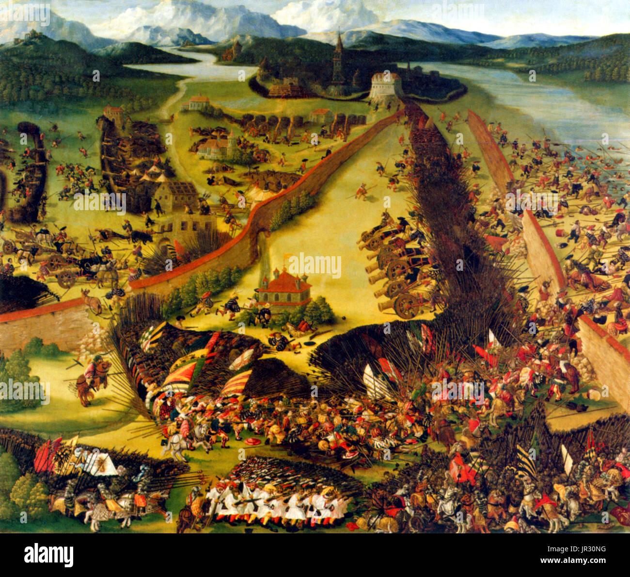 Italienischen Krieg, Schlacht von Pavia, 1525 Stockbild