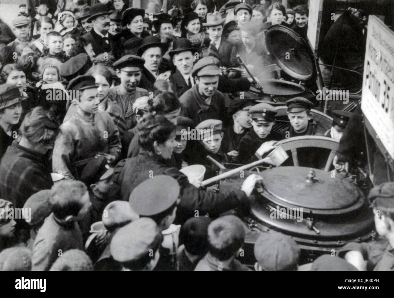 WWI, Berliner Suppenküche, 1916 Stockbild